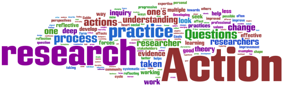 Wordle of research and action related words